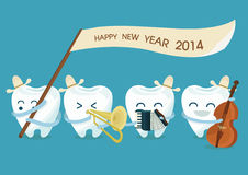 Happy new year dentist. Of dental Royalty Free Stock Photo