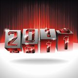 Happy New Year design. Vector Happy New Year design with 2011 dices on a red background Royalty Free Stock Photos