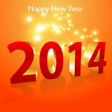 Happy new 2014 year Royalty Free Stock Image