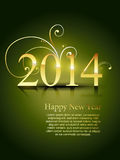 2014 happy new year. Happy new year 2014  design Stock Images
