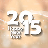 2015 Happy New Year. New year design Stock Images