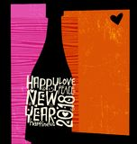 Happy New Year 2018 abstract champagne bottle Stock Image