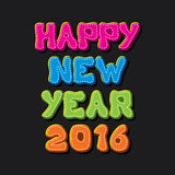 Happy new year 2016 design Royalty Free Stock Images