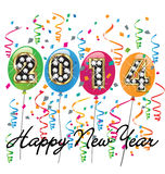 2014 Happy new year vector Stock Photography