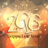 Happy New Year design. Happy New Year background with geometric design Stock Photo