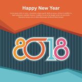 Happy New Year 2018 design royalty free stock photos
