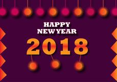 Happy New Year 2018 Design,Happy New year Banner,facbook banner,twitter Banner,. We will Design superb and unique Design for every One, background for client Stock Photos