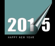 Happy new year 2015. Design card Royalty Free Stock Photos
