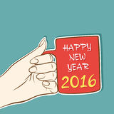 Happy new year 2016 design. Celebrate new year 2016 with coffee concept design Royalty Free Stock Photography