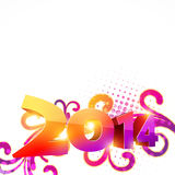 Happy new year design. Happy new year 2014 celebration Royalty Free Stock Photos