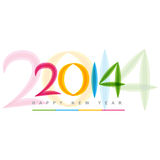Happy new year design. Colorful happy new year 2014 design royalty free illustration