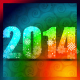 Happy new year design. Colorful happy new year design stock illustration