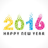 Happy new year 2016 design Royalty Free Stock Photo