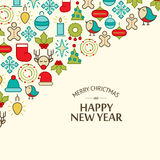Happy New Year design concept in the hand drawing Stock Image