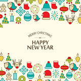 Happy New Year design concept in the hand drawing Royalty Free Stock Image