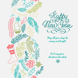 Happy New Year design concept in the hand drawing Royalty Free Stock Photography