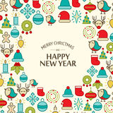 Happy New Year design concept in the hand drawing Stock Images