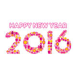 Happy new year 2016 design Stock Image