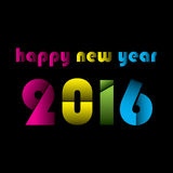Happy new year 2016 design. Creative colorful cut design new year 2016 greeting design Stock Photography