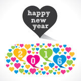 Happy new year 2016 design Royalty Free Stock Image