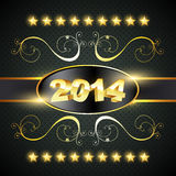 Happy new year design. Creative golden style happy new year design Royalty Free Stock Image