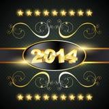 Happy new year design. Creative golden style happy new year design royalty free illustration