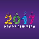 Happy new year 2017 design. Creative happy New Year 2017 Greeting design Royalty Free Stock Photos