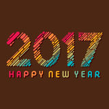 Happy new year 2017 design. Creative happy New Year 2017 Greeting design Royalty Free Stock Photo
