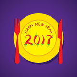 Happy new year 2017 design Royalty Free Stock Photography