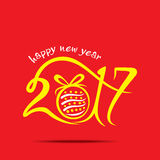 Happy new year 2017 design Royalty Free Stock Images