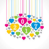 Happy new year 2017 design Stock Images