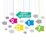 Happy new year 2017 design Royalty Free Stock Photo