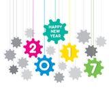 Happy new year 2017 design. Creative happy New Year 2017 Greeting design vector illustration
