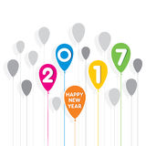 Happy new year 2017 design. Creative happy New Year 2017 Greeting design Stock Images