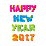 Happy new year 2017 design. Creative happy New Year 2017 Greeting design Royalty Free Stock Photography