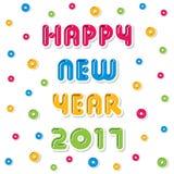 Happy new year 2017 design Stock Image