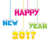 Happy new year 2017 design Stock Photography