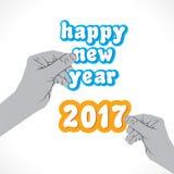 Happy new year 2017 design Stock Photo