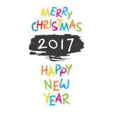 Happy new year 2017 design Royalty Free Stock Image