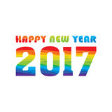 Happy new year 2017 design. Creative happy New Year 2017 Greeting design Royalty Free Stock Images