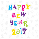 Happy new year 2017 design. Creative happy New Year 2017 Greeting design Royalty Free Stock Image