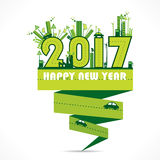 Happy new year 2017 design. Creative happy New Year 2017 Greeting design royalty free illustration