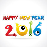 Happy new year 2016 design Stock Images