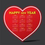 Happy new year 2016 design. Creative heart shape new year calendar 2016 design Royalty Free Stock Photo