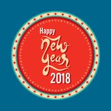 Happy new year 2018 design. Creative happy new year 2018 poster design Stock Photos