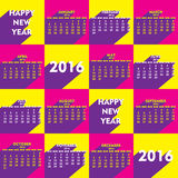 Happy new year 2016 design. Creative retro style new year calender 2016 design Royalty Free Stock Photo