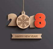 Happy new year 2018 design. Royalty Free Stock Photo