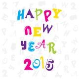 Happy new year 2015 design. Happy new year 2015 doddle design royalty free illustration