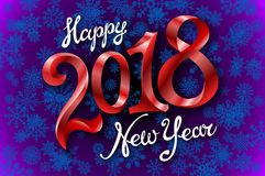 2018 happy New Year design element for presentations, flyers, leaflets, postcards and posters. Vector illustration EPS10. Art Royalty Free Stock Photo