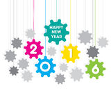 Happy new year 2016 design. Happy new year 2016 gear background design Royalty Free Illustration